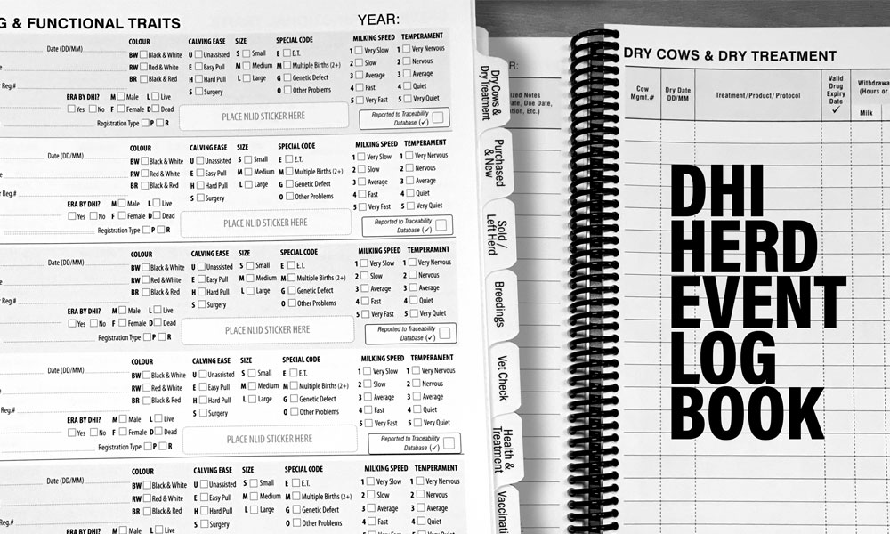 DHI Herd Event Log Book
